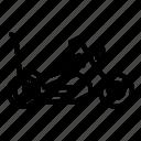 transport, vehicle, cooper, motorbike, motorcycle, classic, bike icon