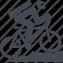 mountain bike, bike, cyclist, sport icon