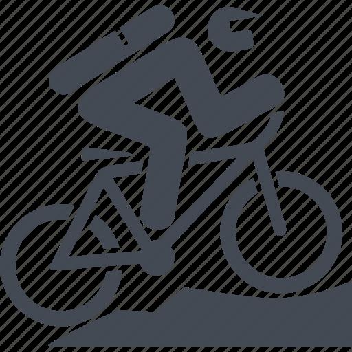 bike, cyclist, mountain bike, sport icon