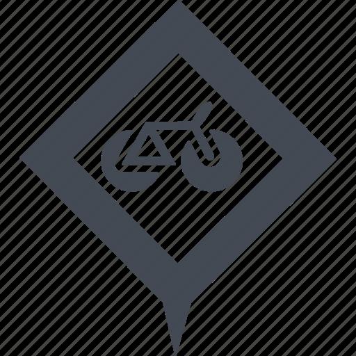 mountain bike, pointer, road sign, sign icon
