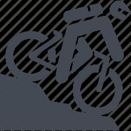 mountain bike, ride, transport, travel icon