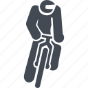 cyclist, mountain bike, ride, transport, vehicle icon
