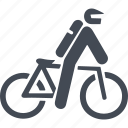 let, mountain bike, transport, travel icon