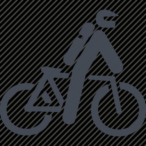 let, mountain bike, transport, travel icon