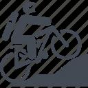 mountain bike, let, transport, travel icon