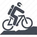 bike, let, mountain bike, transport, travel icon