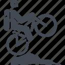 mountain bike, bike, transport, travel icon