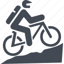 bike, cyclist, mountain bike, transport icon