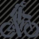 mountain bike, transport, travel, vehicle icon