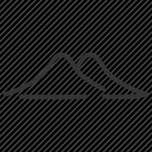 hill, landscape, line, mountain icon