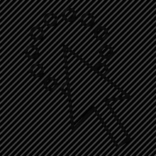 click, cursor, line, mouse, move, outline, pointer icon