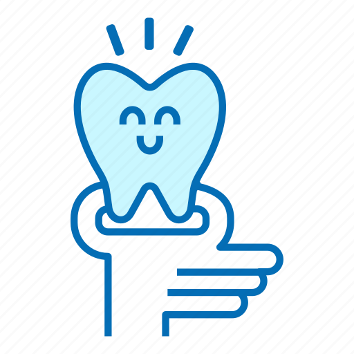 character, dental, dentist, extracted tooth, service treatment, stomatologist icon