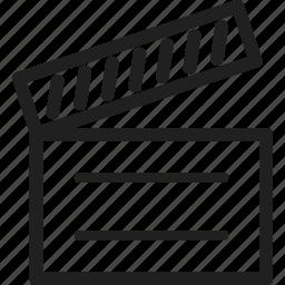 design, line, movie, web icon