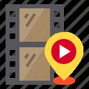 gps, location, map, movie, pin