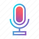 audio, mic, microphone, record, sound, speech, voice icon