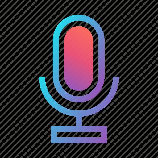 audio, mic, microphone, record, sound, speech, voice icon