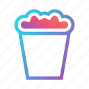 cinema, corn, entertainment, food, movie, popcorn, snack icon