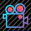film, media, movie, multimedia, production, recording, video camera icon