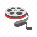 cinema, film, film reel, movie, photographic film, reel film, wheel icon