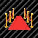 awarding, entertainment, movie premier, pole, red carpet, show icon