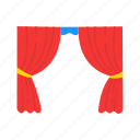 cinema, curtain, movie, stage, stage curtain, theatre, theatre stage icon
