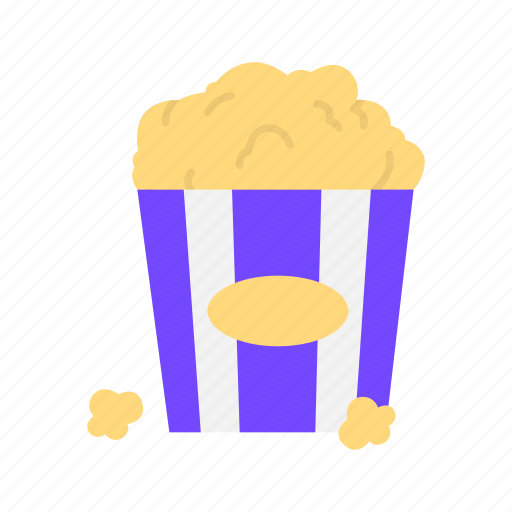 bucket, cinema, food, movie snack, popcorn, snack icon