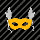 cinema, costume, mask, masquerade, masquerade ball, movie, party icon