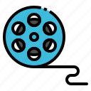 cinema, film, movie, roll, video icon