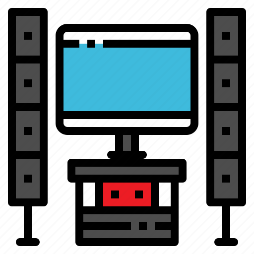 entertainment, home, movie, theater, video icon