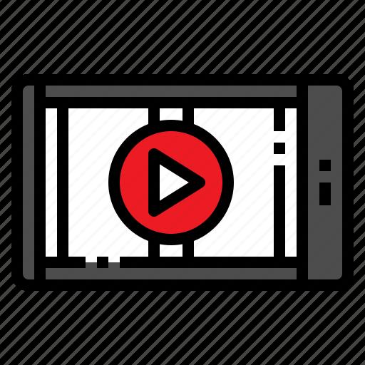 clip, mobile, movie, online, video icon