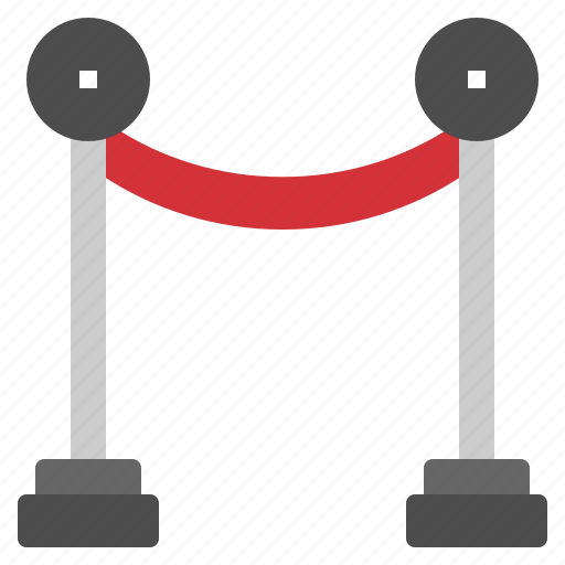 barrier, carpet, movie, red, rope icon