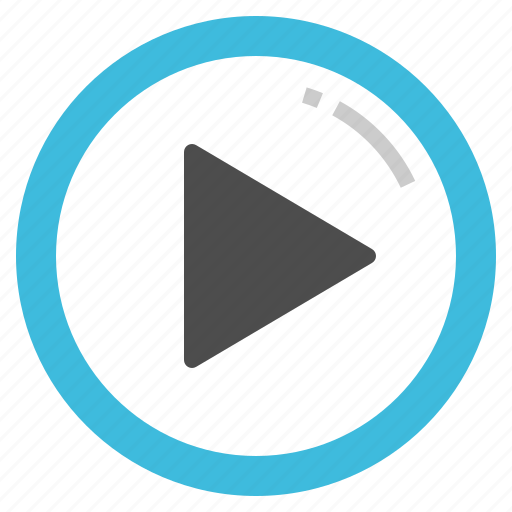 arrow, movie, play, song, video icon