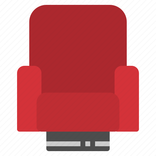 chair, cinema, movie, seat, theater icon