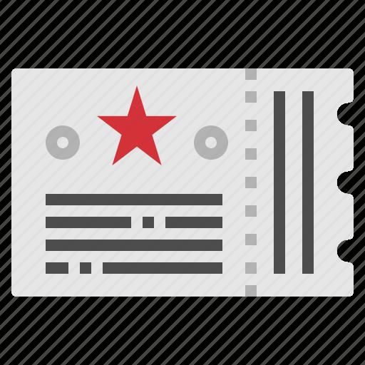 cinema, concert, film, movie, ticket icon