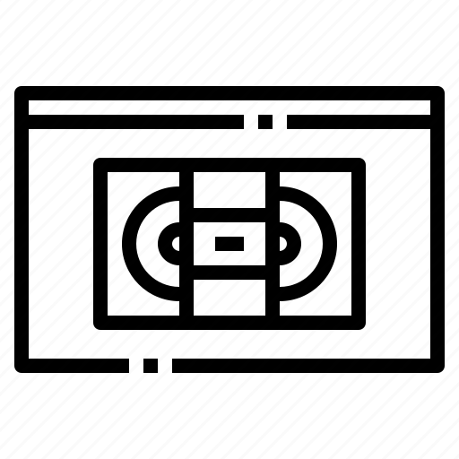 entertainment, media, movie, tape, video icon