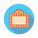 board, film, movie, sign icon