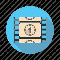 cinema, counter, entertainment, film, movie icon