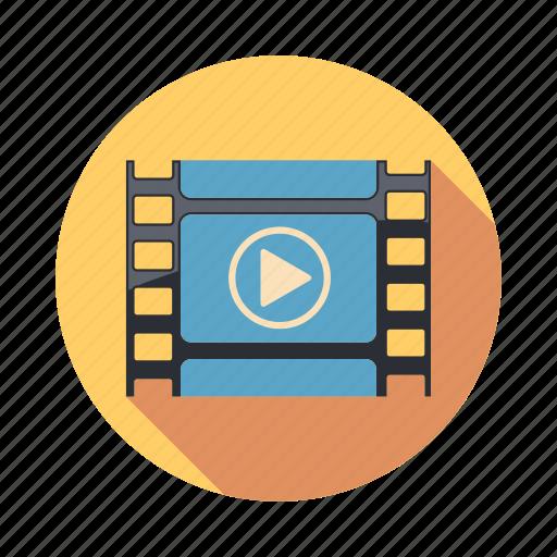 cinema, film, movie, play, player icon