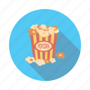 corn, food, meal, popcorn icon