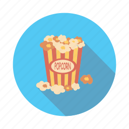 corn, food, meal, popcorn icon