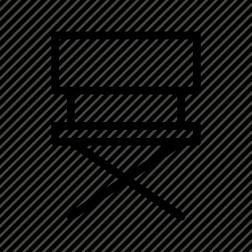 chair, cinema, direction, director, film, movie, theatre icon