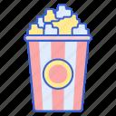 cinema, corn, food, pop icon