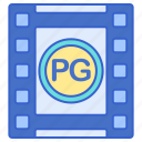 cinema, film, movie, rating icon