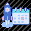 calendar, date, release, launch icon