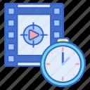 cinema, movie, showtimes, time icon