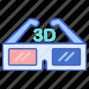 cinema, film, glasses, movie