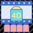 4d, film, movie icon