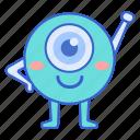 animation, character, eye, mascot