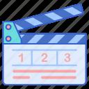 clapper, film, movie icon