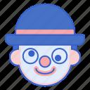 circus, clown, comedy icon